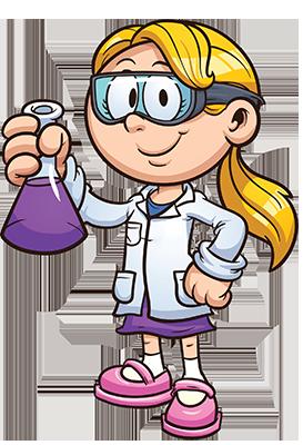 ילדה מדענית