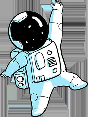 ציור של אסטרונאוט