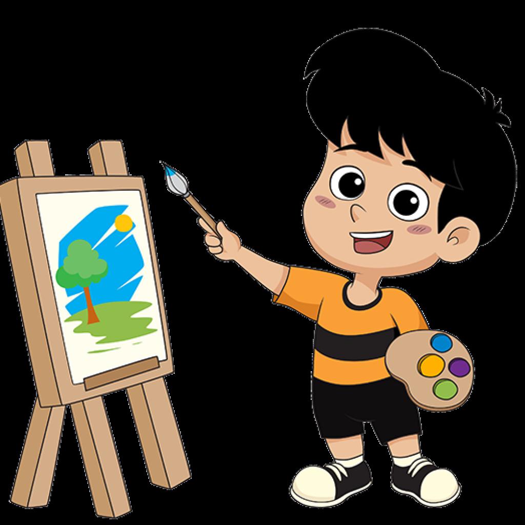 ילד מצייר ציור